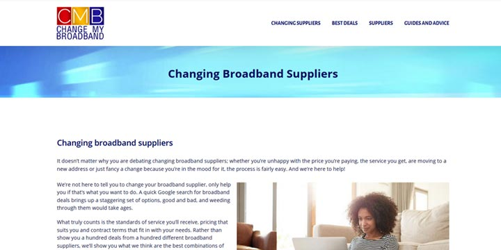 Change my broadband - price comparison
