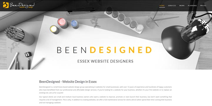 BeenDesigned - website design in Essex